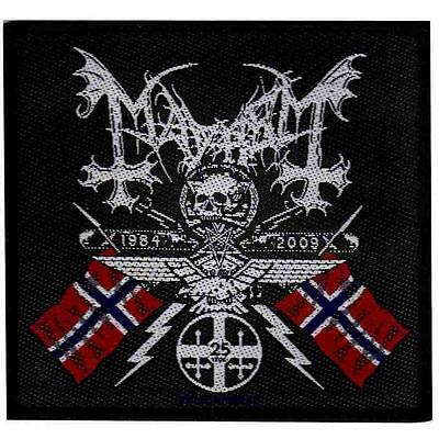OFFICIAL LICENSED - MAYHEM - COAT OF ARMS SEW ON PATCH BLACK METAL