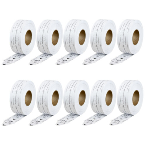 10 Rolls of 2-Digit Turn-O-Matic T80 White Take a Number Tickets for D80 Ticket