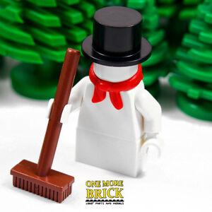 LEGO Snowman Xmas Minifigure NEW - Winter Village Christmas Snow Man cake topper