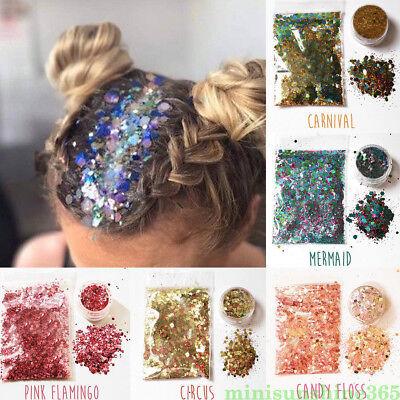 Mixed Sequin Powder Nail Face Eye Shadow Hair Glitter Decoration Halloween Party - Halloween Glitter Eye Makeup