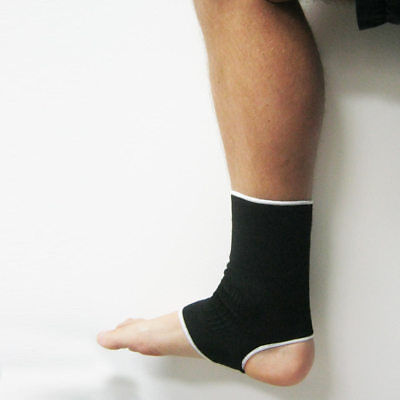 2 Ankle Support Brace Elastic Compression Wrap Sleeve Sports Relief Pain Foot