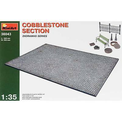 NEW MiniArt 1/35 Cobblestone Section w/Street Accessories 36043