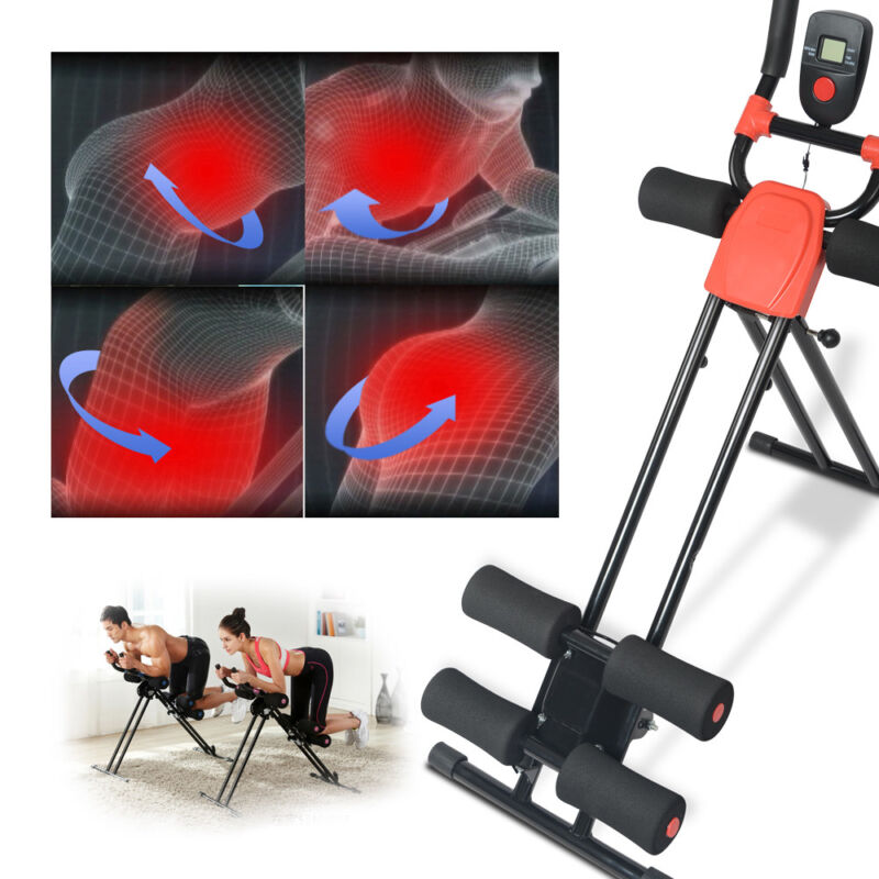 Ab Cruncher Abdominal Trainer Glider Machine Body Fitness Waist Power Exercise