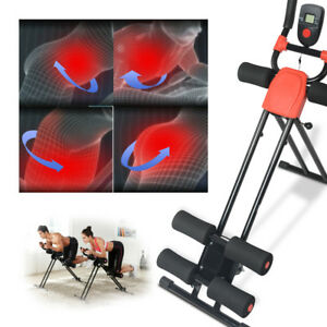 Ab Cruncher Abdominal Trainer Glider Machine Body Fitness Gym Exercise Equipment
