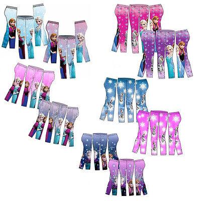 Leggings Für Mädchen (Disney Frozen Leggings für Mädchen, Die Eiskönigin Hosen, Anna, Elsa, Olaf OVP)