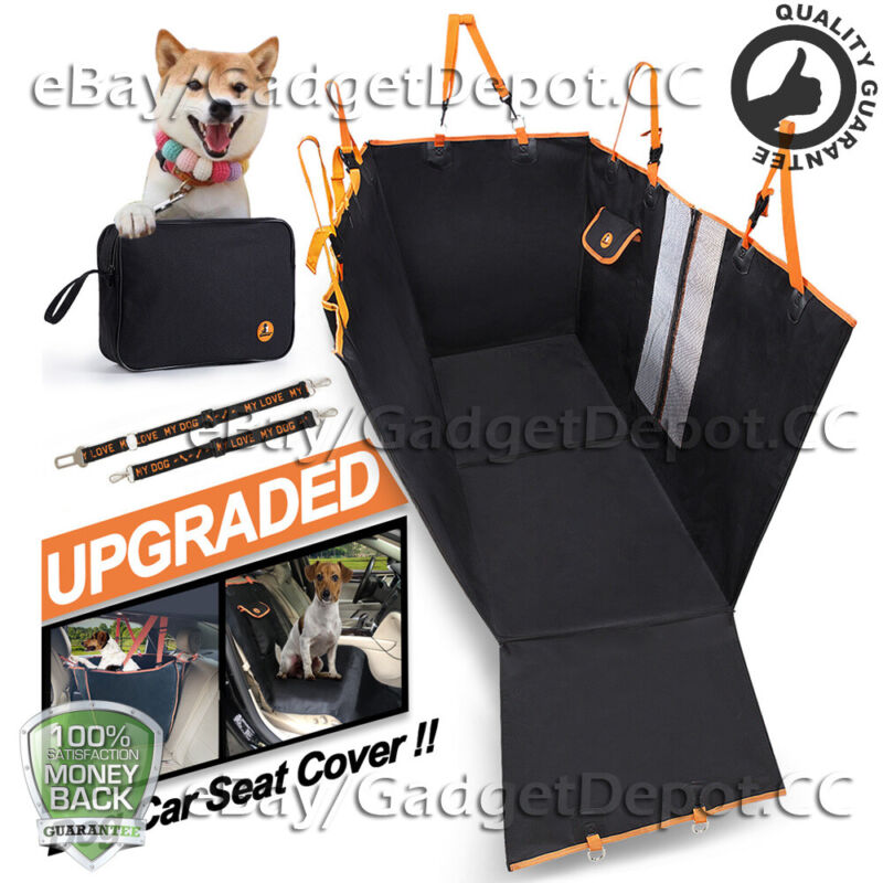 Pet Car Back Seat Cover for Dogs Cats Waterproof Hammock Protector Mat Blanket