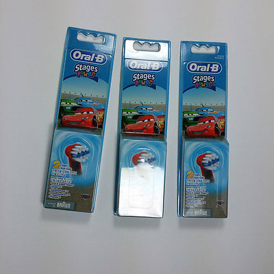 6pcs Braun Oral-B Kids Electric Toothbrush Replacement Heads Stages Power