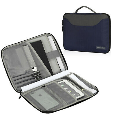 Business Zipper Padfolio Portfolio Binder Letter-sized Document Organizer Holder