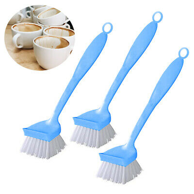 3PC Round Dish Brush Set Cleaning Kitchen Sink Scrubber Pot Pan Stiff Bristles