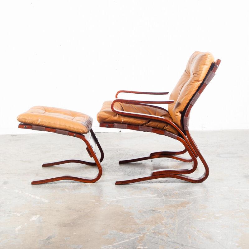 Mid Century Danish Modern Lounge Chair Leather Tan Ottoman S Christian Denmark