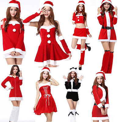 Sexy Women's Santa Claus Christmas Costume Cosplay Party Outfit Fancy Dress](Santa Outfit Women)
