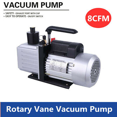 220v Vacuum Pump 34hp 8cfm Rotary Vane Single Stage Air Conditioner 716-20unf