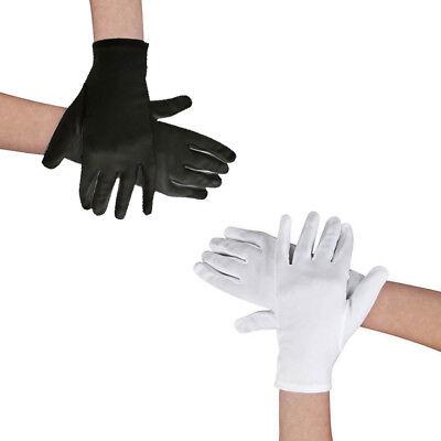 Handschuhe Herren oder Damen Baumwolle, schwarz oder weiß ideal für Kostüme ()