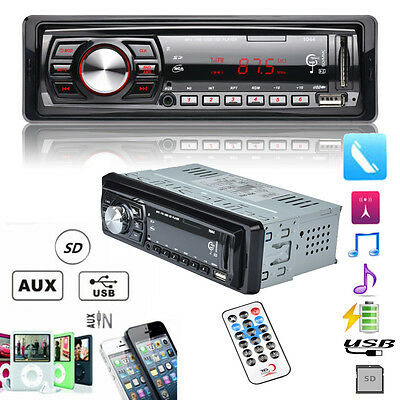 Car Stereo Audio In-Dash FM Aux Input Receiver W/ SD USB MP3 WMA Radio Player