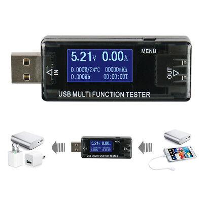 Newly Usb Multi Function Detector Current Voltage Test Voltage Digital Tester