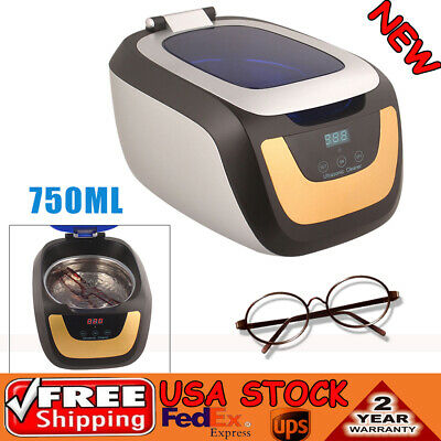 0.75l Industrial Ultrasonic Cleaner Jewelry Disk Dental Cleaning Machine Usa