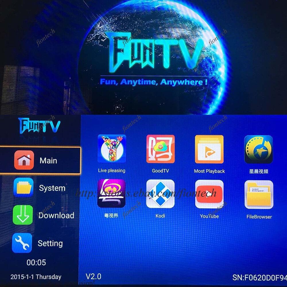 2019 Newest 3rd Gen of FUNTV TV Box Chinese HK Taiwan Vietnam live