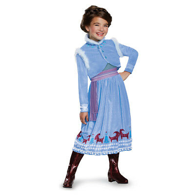 Girls Anna Frozen Adventure Deluxe Halloween Costume - Anna Deluxe Costume