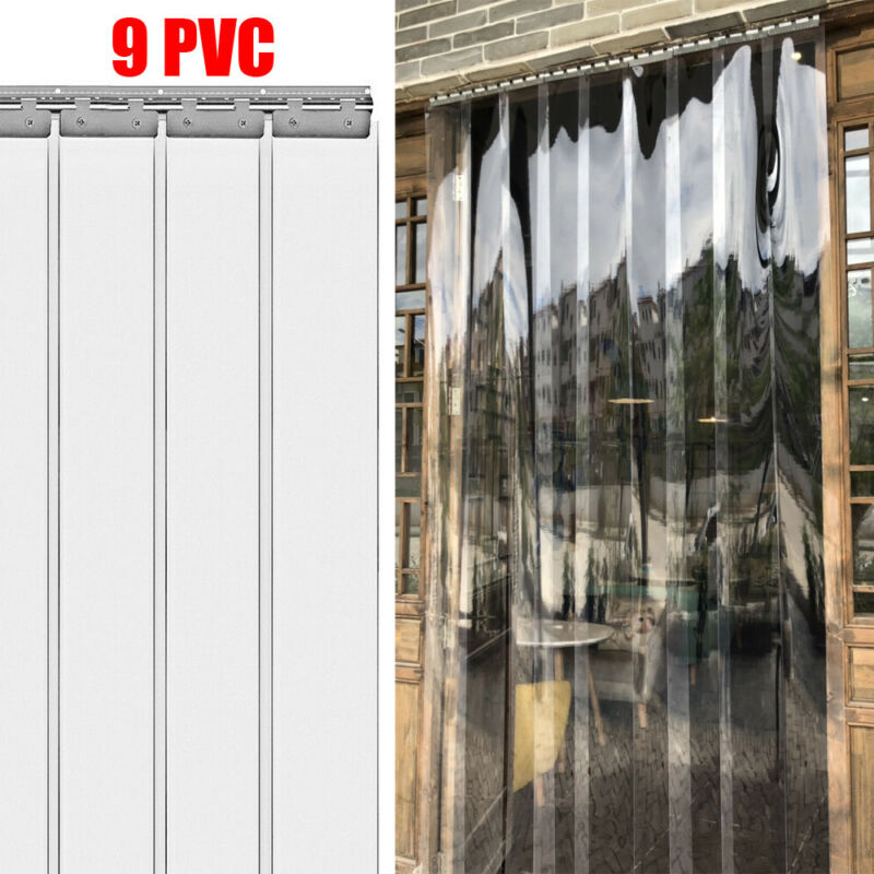 PVC Clear Strip Curtain Door Strip Window Curtains 2m Cooler Freezer PVC Curtain