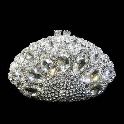 (Eu) Diamante Bolso Mujer Cristal Diamante Bolso de Mano Fiesta de Boda...