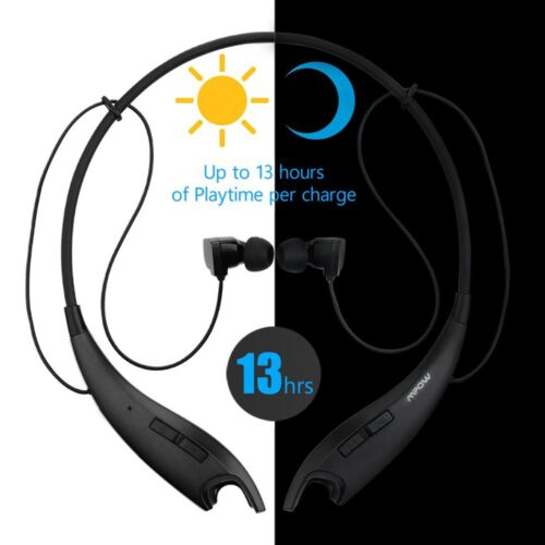 Mpow Jaws Bluetooth 4.1 Headset Neck Band Wireless Headphone