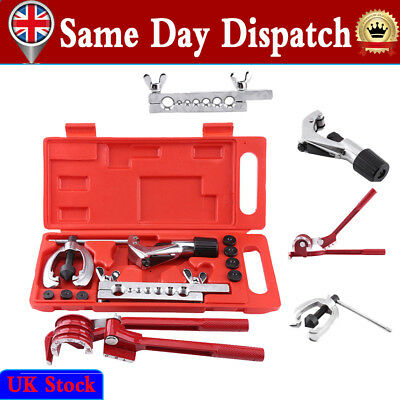 Metric Car Flaring Tool Kit Brake Pipe Repair Set w/ Tube Cutter Mini Bender Kit