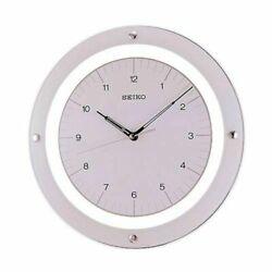 Seiko Quiet Sweep Floating Wall Clock, White QXA314WLH