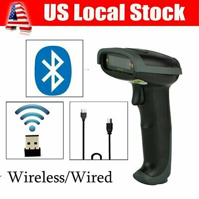 Us Wirelesswired Handheld Scanner Bluetooth Barcode Scanner Usb Laser Reader