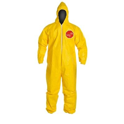 2xl Dupont Tychem Tyvek Qc Yellow Coverall Chemical Hazmat Suit W Hood