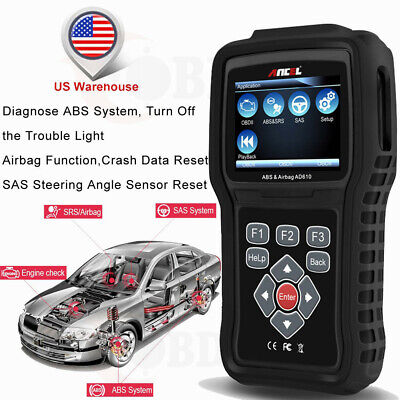 ABS Airbag SRS SAS Reset Engine Diagnostic Scan Tool ANCEL AD610 Auto Scanner