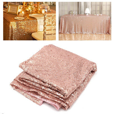 100x150cm Sequin Tablecloths Table Cloth For Wedding Party Event Banquets Decor (Table Decor For Parties)