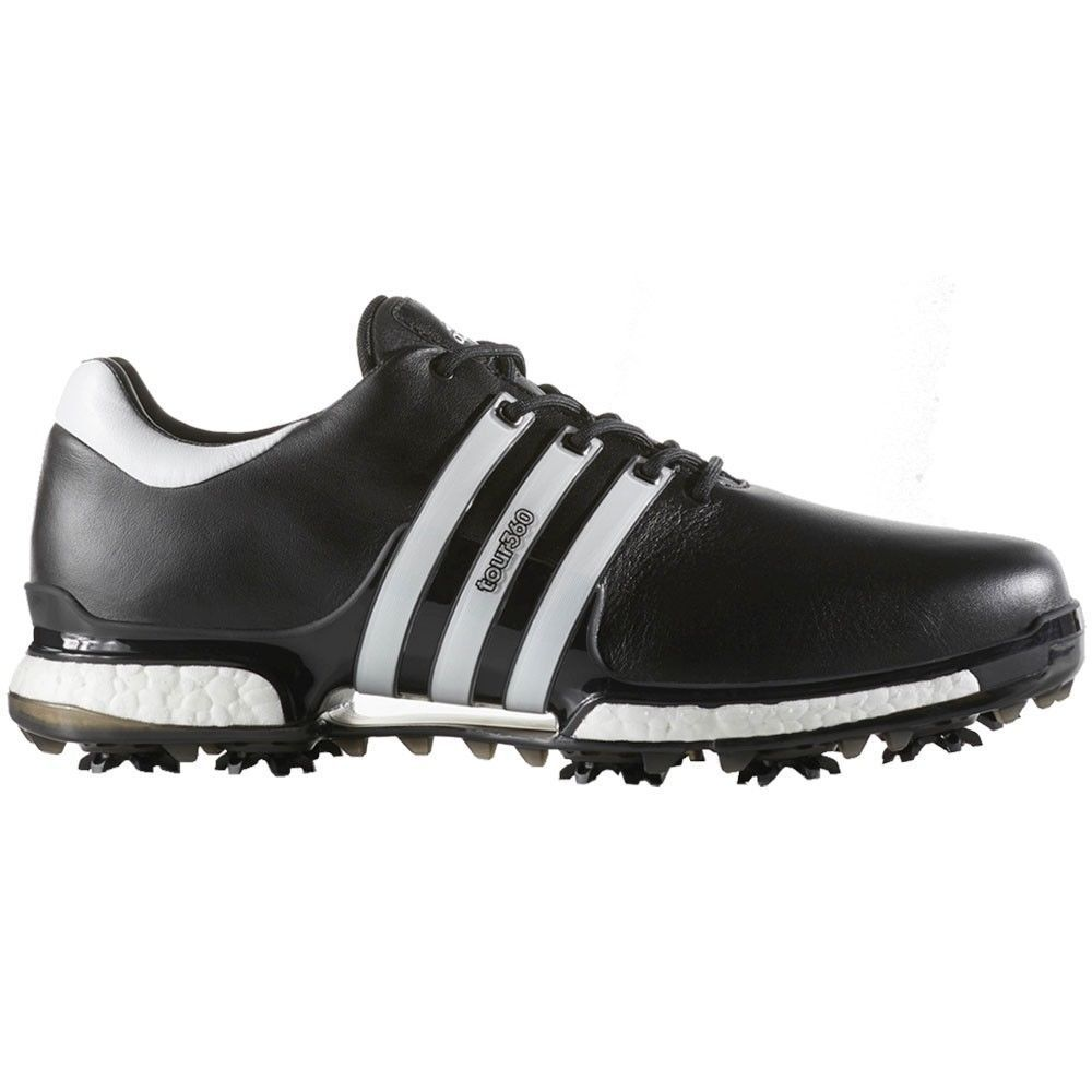 Détails sur 50% OFF Adidas Tour 360 Boost 2.0 wide fit Cuir Imperméable Chaussures De Golf afficher le titre d'origine