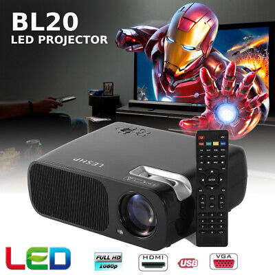 Portable Mini LED Projector 7000 Lumens Home Cinema Theater 1080P 3D HDMI AV BP