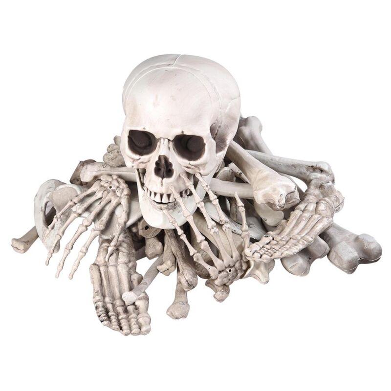 Bag of Skeleton Bones Skull 28pcs Set Prop Halloween Decoration Haunted House
