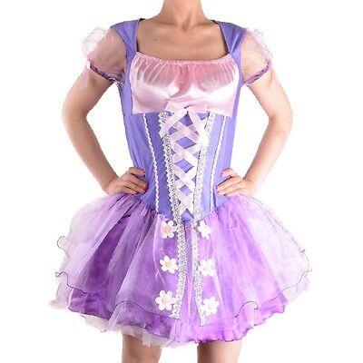 Adult Ladies Princess Tangled Rapunzel costume halloween Fairytale Fancy dress