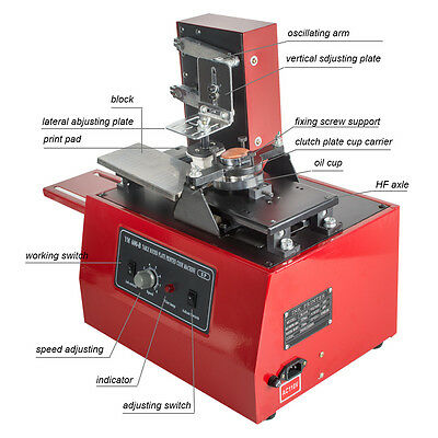Electric Pad Printer Printing Machine T-shirt Inkprint Pvc Mug Ballpen Popular