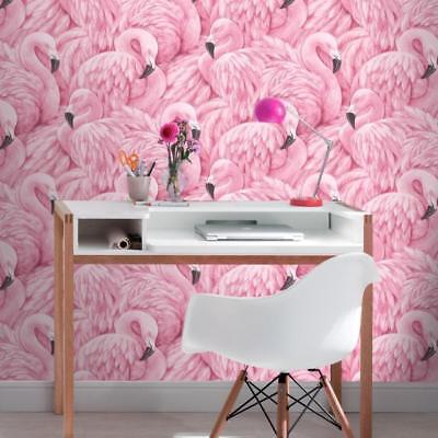 Groß Flamingo (Rosa Flamingo Tapete von Rasch Groß Waage Flamingos 277890)