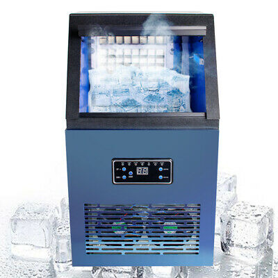 Us 230w Auto Commercial Ice Maker Cube Machine Stainless Steel Bar 50kg2019 Fda