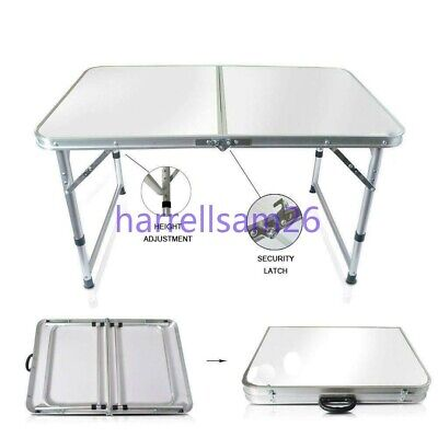 Aluminum Folding Table 4' Portable Indoor Outdoor Picnic Party Camping Table