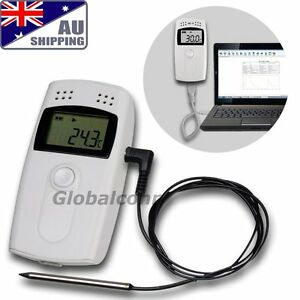 AU Temperature Humidity Data logger Thermo Hygrometer External Sensor °C °F RH