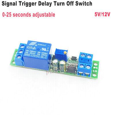 Dc5v 12v Signal Trigger Delay Turn Off Timer Switch Relay Module Adjustable Time