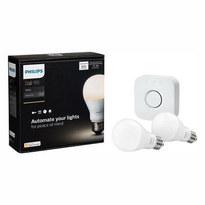 White A19 Smart Home LED Light Bulb Bulbs Starter Kit Apple