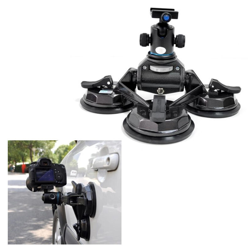 Adjustable Camera Frame Stabilizer Video Camera Car Sucker w/Gimbal 10kg Suction