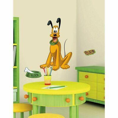 PLUTO WALL DECAL Disney Mickey Mouse Dog Stickers Kids Bedroom Decor Disney Bedroom Decor