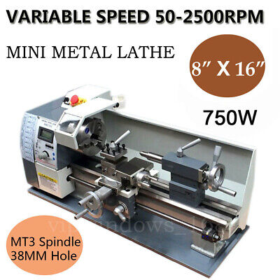 Mini Metal Lathe Wm210v 750w 8x16 Bench Top 220v Thread Jade And Wood Process