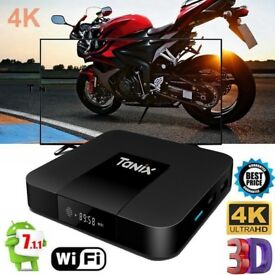 Tanix TX3 Mini TV Box Quad-core 4K H.265 2GB+16GB WiFi Android 7.1 2.4G EU Plug