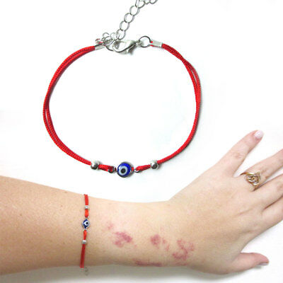 Evil Eye Red String Kabbalah Bracelet Mati Nazar Bead Good Luck Charm Protection