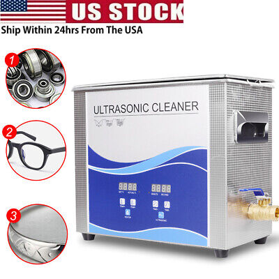 Stainless Steel Ultrasonic Cleaner Liter Heated Heater Wtimer Machine 2l-30l Us