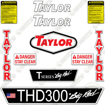Taylor Thd300 Decal Kit Forklift Safety Thd 300 Big Red
