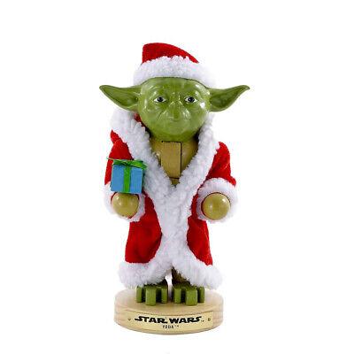 "[Kurt Adler - Star Wars Yoda In Robe Christmas Nutcracker 9"" New SW6151L</Title]"